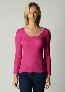 Spring Sale 40% Off!! Our Scallop Lace Long Sleeve Top - tops & t-shirts