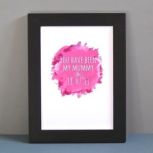 Personalised Watercolour 'Mine Since' Print - personalised