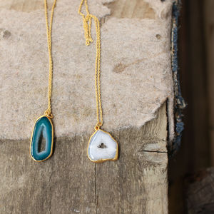 Agate Druzy Jewellery - necklaces & pendants