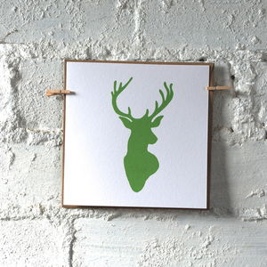Pack Of Four Stags Head Cards - cards & wrap