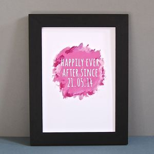 Personalised Watercolour Happily Ever After Print - view all sale items