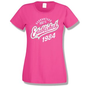 'Established' Birthday Ladies Tee Years 1998 To 1963 - women's fashion