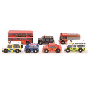 Wooden London Car Set - traditional toys & games