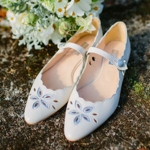 Forget Me Not Flat Wedding Shoes - wedding fashion