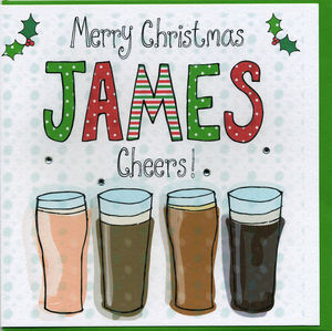 Personalised Beer Christmas Card
