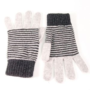 Ladies Lambswool Gloves Stripe