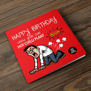 Grow Your Own Hot Chilli Birthday Card - gardening