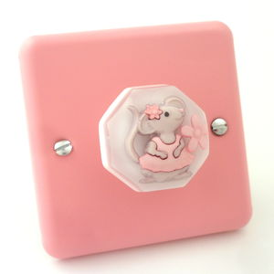 Ballerina Mouse Light Switch - furnishings & fittings