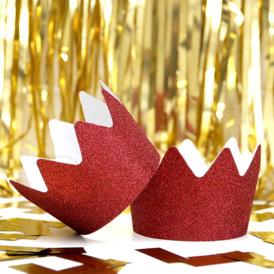 Christmas Glitter Party Crowns