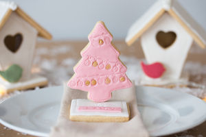 Personalised Edible Christmas Tree - biscuits