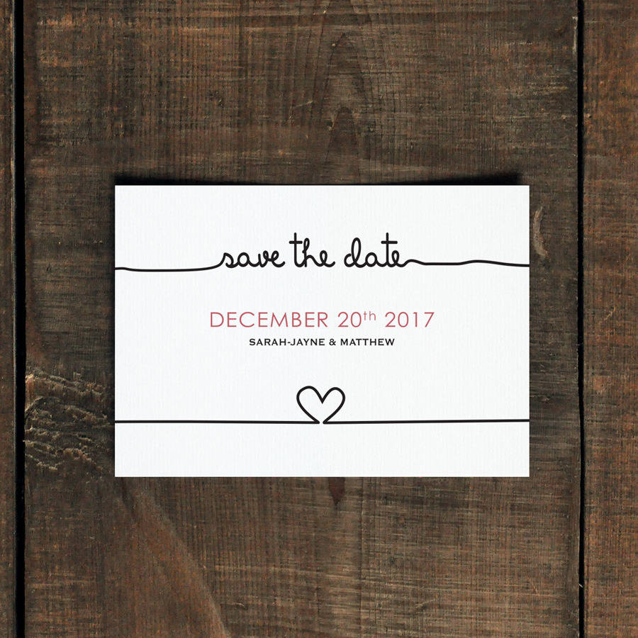 scribble wedding invitation and save the date by feel good wedding ...