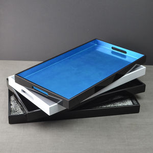 Rectangular Lacquer Serving Tray - trays