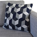 Grey Geo Knit Cushion