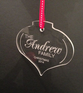 Personalised Christmas Tree Decoration Onion