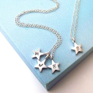 Personalised Initial Star Necklace - wedding fashion