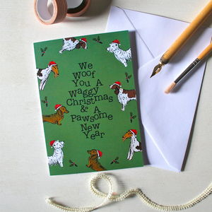 Dog Christmas Card - christmas sale
