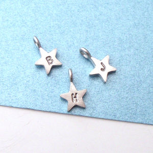 Personalised Initial Star Charm