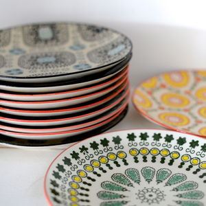 Hand Painted Stoneware Plates - home