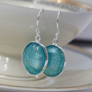 Murano Glass Earrings In Blue Tones - jewellery sale