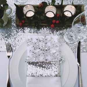 Christmas Sequin Table Linen - last-minute christmas decorations