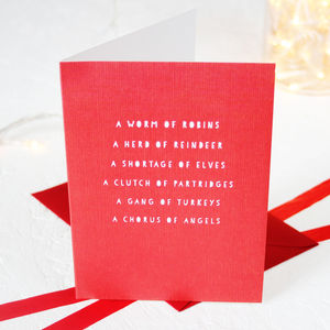 Christmas Collective Nouns Card Packs - cards & wrap