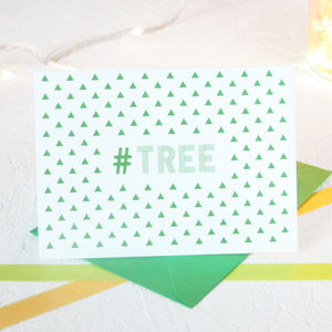 Christmas Hashtag Trees Card Packs - christmas sale