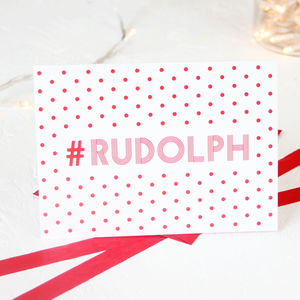 Christmas Hashtag Rudolph Card Packs - cards & wrap