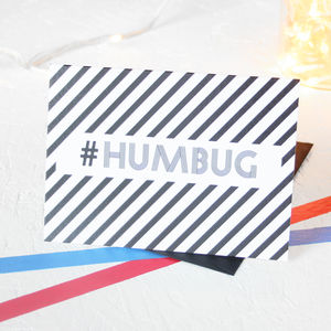 Christmas Hashtag Humbug Card Packs - cards & wrap
