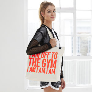 'Off To The Gym' Bag, Neon Coral