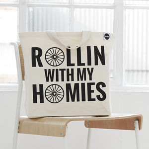 'Rollin' With The Homies' Tote Bag - gifts for cyclists