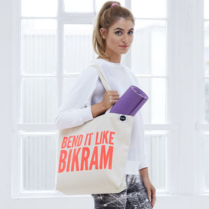 'Bend It Like Bikram' Gym Bag - gifts for the health conscious