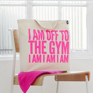 'Off To The Gym' Bag - gifts under £25 for her