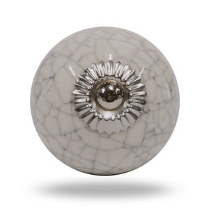 Ceramic Crackle Knob Chrome Finish - home accessories