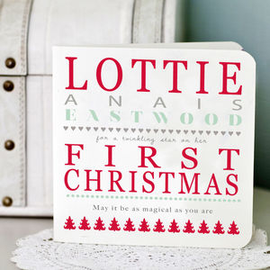 Personalised First Christmas Card