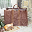 Autumn Brown Heavy Duty Log Bag