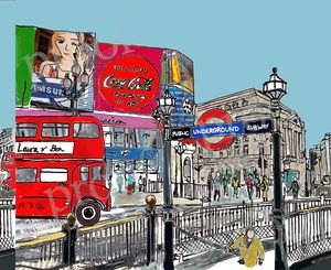 Piccadilly Circus Personalised Print