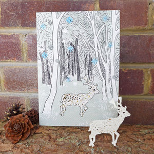 Plantable Deer Card - christmas cards