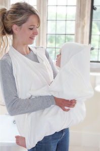 Bamboo Apron Style Baby Bath Towel - bath time