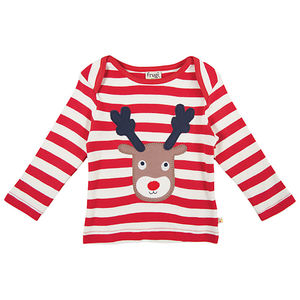 Organic Christmas Reindeer Baby And Toddler T Shirt - christmas clothing & accessories