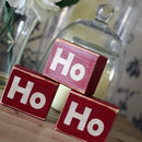 Vintage Distressed Ho Ho Ho Christmas Blocks