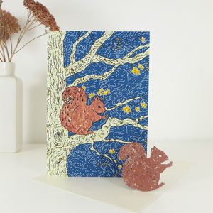 Plantable Squirrel Card - birthday cards