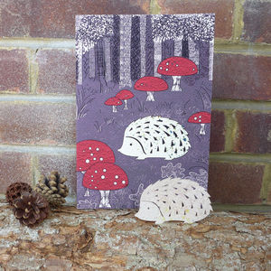 Plantable Hedgehog Card - birthday cards