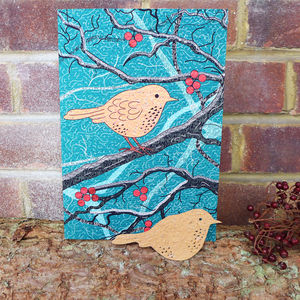 Plantable Robin Card - christmas cards