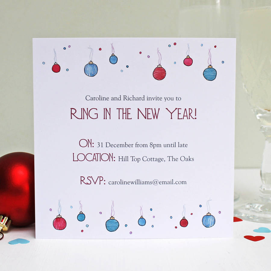 personalised baubles and bubbles christmas invitations by love personalised baubles and bubbles christmas invitations