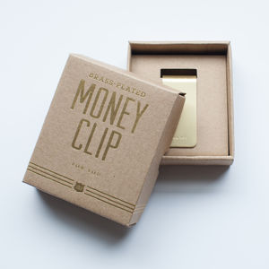 Brass Money Clip - view all father's day gifts