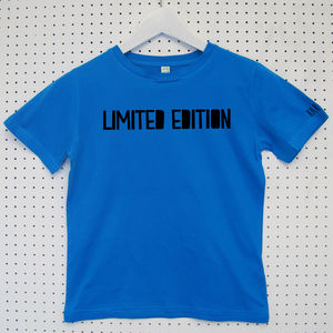 'Limited Edition' Child's Organic Cotton T Shirt
