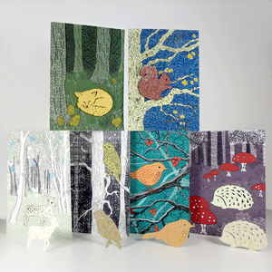 Plantable Woodland Friends Cards - birthday cards