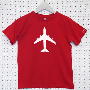 Personalised 'Aeroplane' Child's Organic Cotton T Shirt