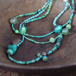 Peruvian Opal And Mixed Stone Necklace