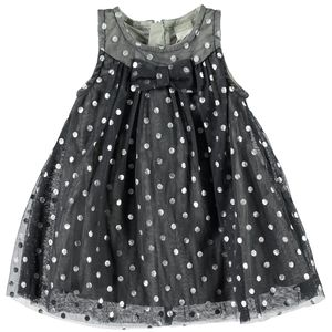 Newborn Precious Metallic Spencer Dress